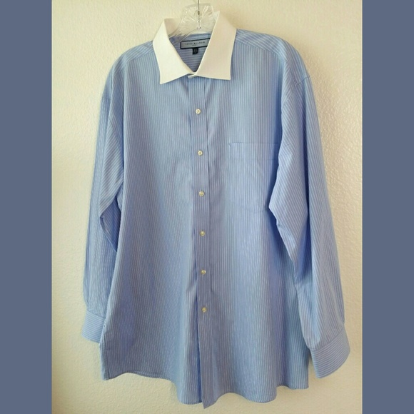 4ab737e7 Tommy Hilfiger Shirts | Ithaca Pinstripe White Collar Shirt | Poshmark